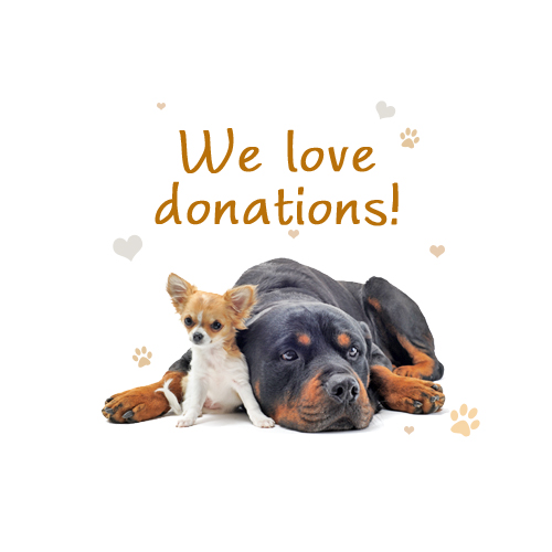 we love donations at Little Big Dog Rescue Monterey VA